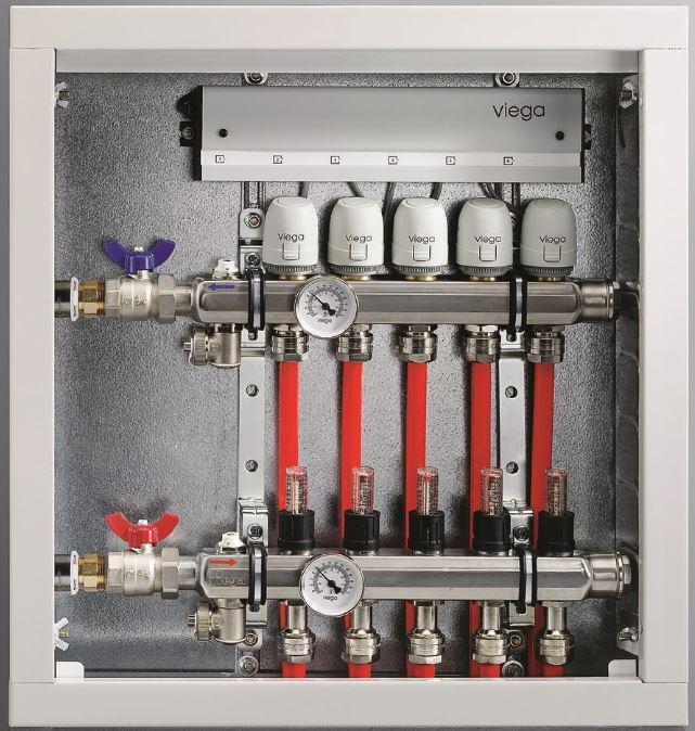 Viega Underfloor Heating Manifold