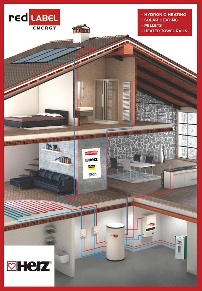 Hot Water Based Underfloor Heating Red Label Energy